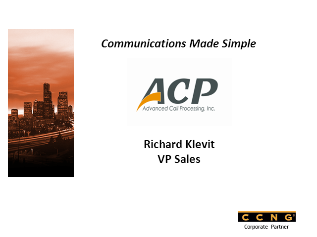 Communications Made Simple, by CCNG partner ACP