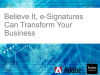 The Last Piece of the Puzzle: Transform Sales Processes with E-Signatures.