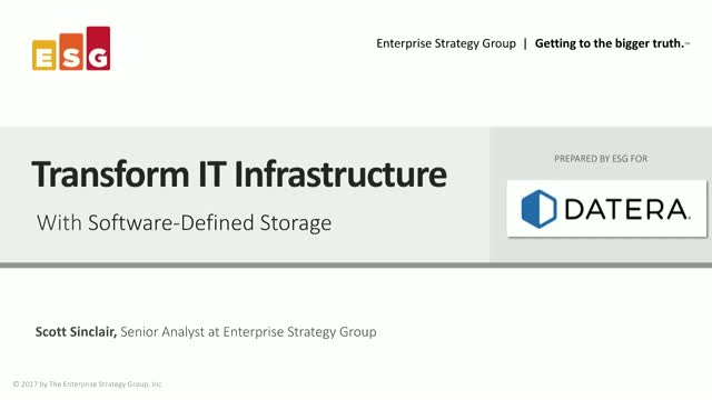What Makes a Storage Solution TRULY  Software-Defined?