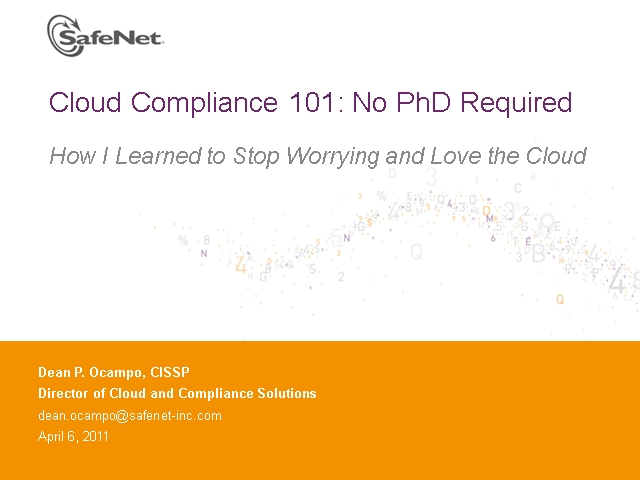 Cloud Compliance 101: No PhD Required