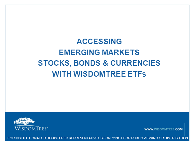 Managing Risks in the Emerging Markets