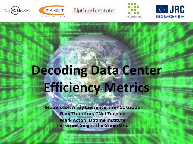 Decoding Data Center Efficiency Metrics