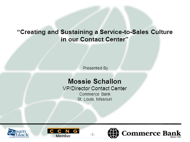 Commerce Bank on Creating & Sustaining a Service-to-Sales Culture