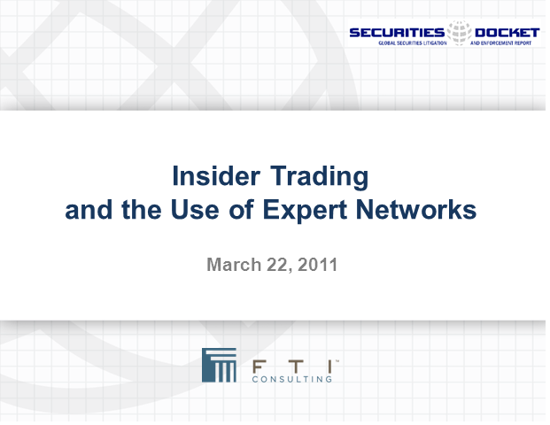 Insider Trading and the Use of Expert Networks