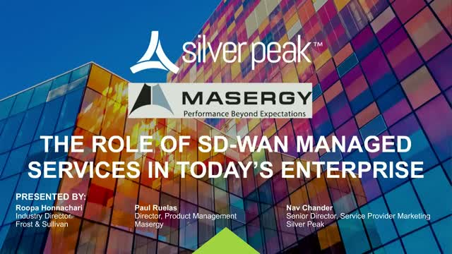 The Role of SD-WAN Managed Services in Today's Enterprise