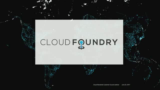 Cloud Foundry Road Map in 2017