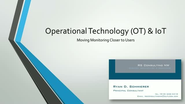 Operational Technology & IoT Help Move Monitoring Closer to Users