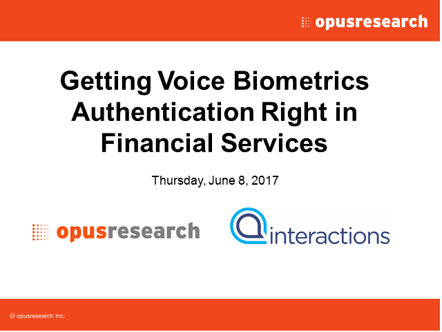 Getting Voice Biometrics Authentication Right in Financial Services