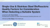 Single-Use & Stainless Steel BioReactors: Quality Factors for Consideration
