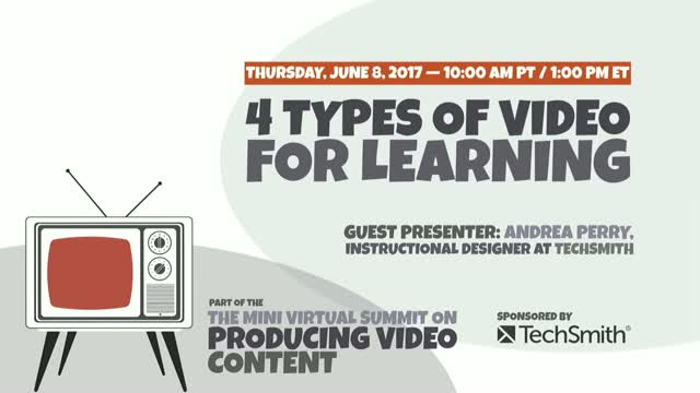 Four Types of Video for Learning