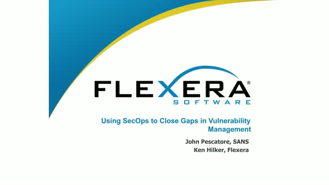 SecOps principles to close gaps in Vulnerability Management
