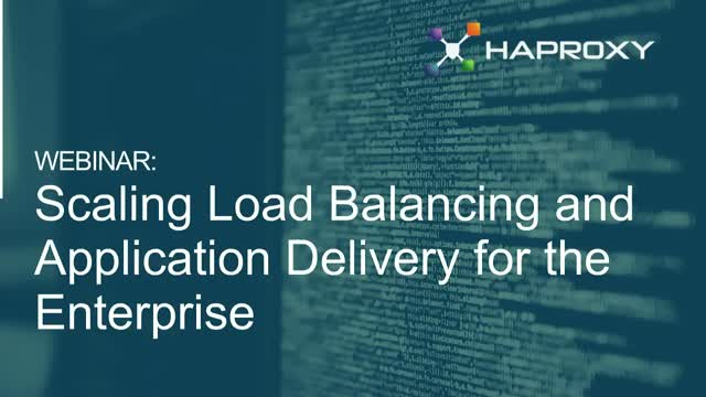 Load Balancing and Application Delivery for the Enterprise