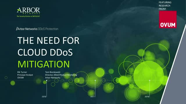 The Need for Cloud DDoS Mitigation