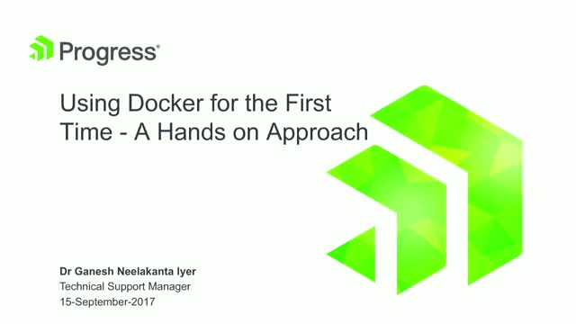 Using Docker for the First Time: A Hands on Approach