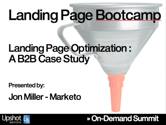 Landing Page Optimization - A B2B Case Study