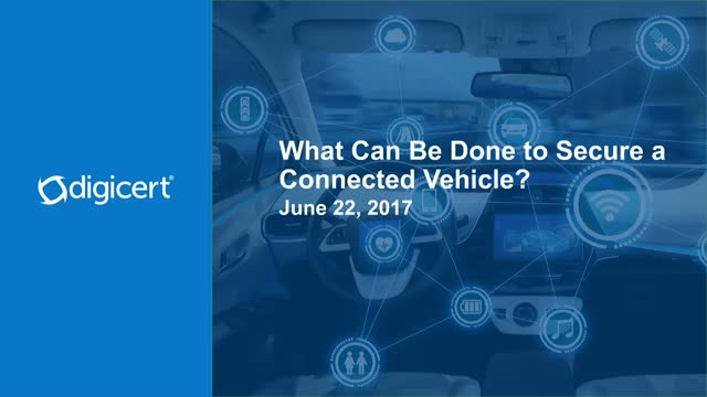 What Can be Done to Secure a Connected Vehicle?