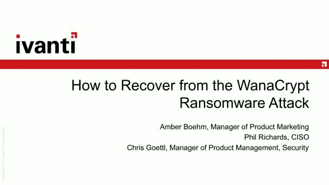 How to Recover from the WanaCrypt Ransomware Attack