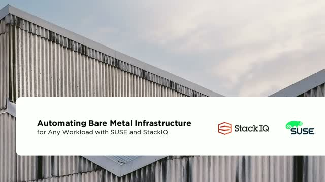 Automating Bare Metal Infrastructure for Any Workload