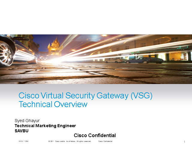 Virtual Security Gateway Technical Overview