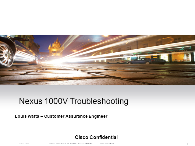 Nexus 1000V Troubleshooting