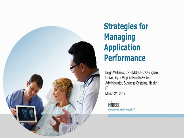 Strategies for Managing Application Performance in Healthcare IT