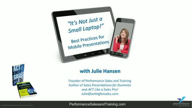 It's not just a small laptop!  Best practices for presenting on your tablet or m