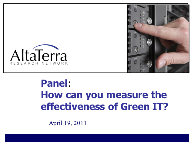 How Can You Measure the Effectiveness of Green IT?