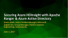Securing Azure HDInsight with Apache Ranger & Azure Active Directory