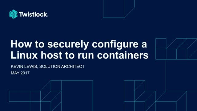 How to Securely Configure a Linux Host to Run Docker