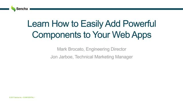 SNC - Learn How to Easily Add Powerful Components to Your Web Apps