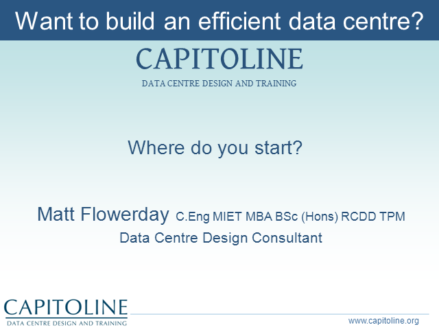 Want to Build an Efficient Data Center? Where Do You Start?