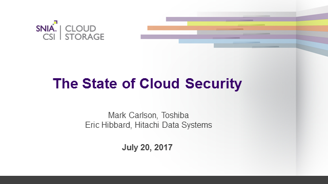 The State of Cloud Security