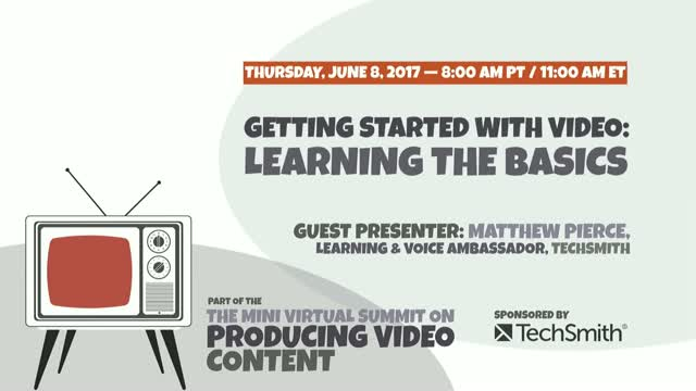 Getting Started with Video: Learning the Basics