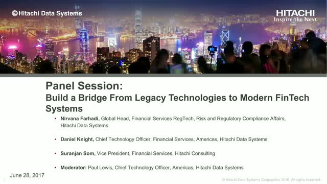 Panel Session: Bridge the Gap From Legacy Technologies to Modern FinTech Systems