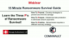 15 Minute Ransomware Survival Guide