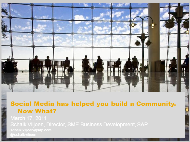 Social Media Helped You Build Communities -  Now What?