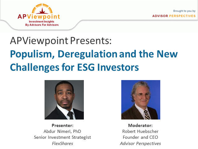 Populism, Deregulation and the New Challenges for ESG Investors