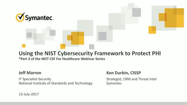 Protecting Health Information with the NIST Cybersecurity Framework