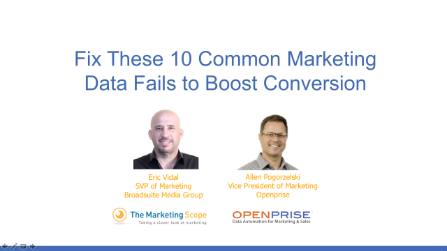 Fix These 10 Common Marketing Data Fails to Boost Conversion