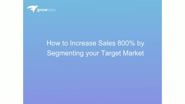 How to Increase Sales by 800% by Segmenting Your Target Market