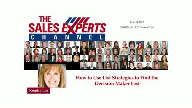 How to Use List Strategies to Find the Decision Maker Fast
