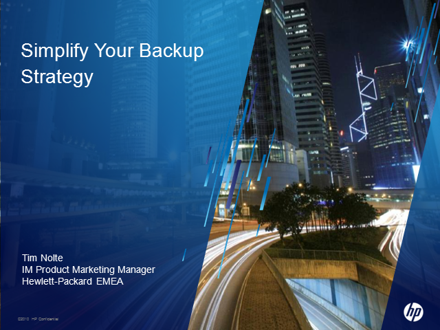 Simplify Your Data Protection & Backup Strategy