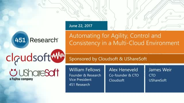 Automating for Agility, Control and Consistency in a Multi-Cloud Environment