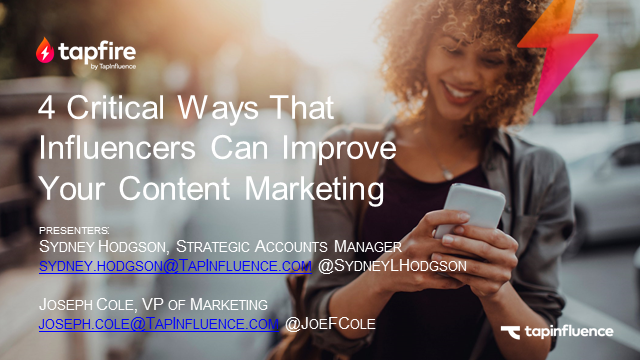 5 Critical Ways Influencers Can Improve Your Content Marketing