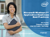Microsoft Windows 7 Application Readiness Best Practices