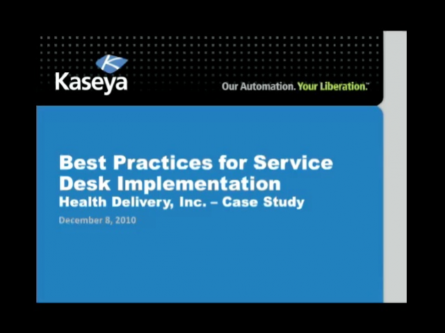 Best Practices for Service Desk Implementation