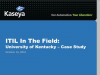 ITIL in the Field: University of Kentucky - Case Study