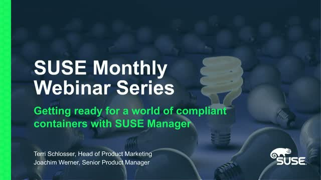 Getting ready for a world of compliant containers with SUSE Manager