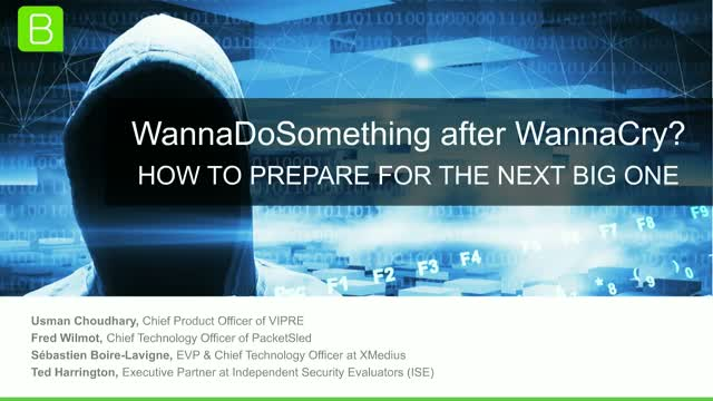 WannaDoSomething after WannaCry? How to Prepare for the Next Big One