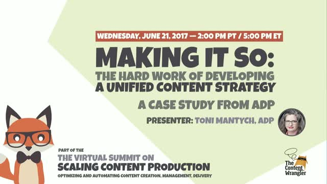 Making It So: The Hard Work of Developing a Unified Content Strategy